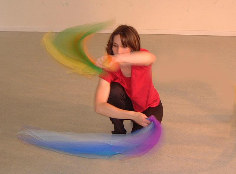Gruppentherapie Tanztherapie-Gruppe Kreativität experimentieren